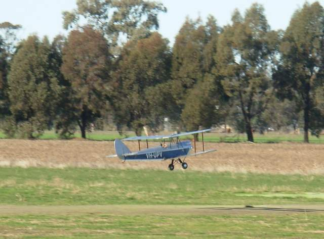 VFSAA Trophy Shepparton Victoria 7th June 2008 - Noel's Gypsey Moth powered by an OS FS-120S on take off.